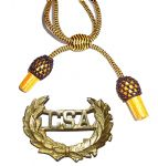 Officers Black & Gold Hat Cord And CSA Badge
